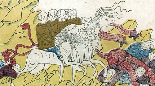 Изображение Апокалипсиса из русской рукописи допетровского времени