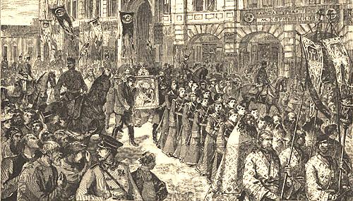 Крестный ход во время холеры. Санкт-Петербург